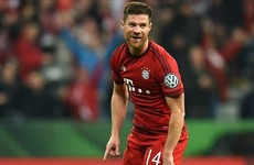 Xabi Alonso scored a stunning goal in the German Cup tonight
