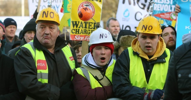 Are water charges still an election issue?