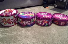 This photo claiming to show how Quality Street tins have shrunk has enraged the internet
