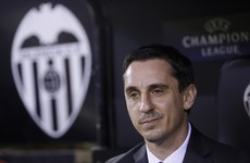 Former Man City striker helps Gary Neville claim first win as Valencia coach