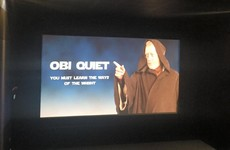 This Dublin cinema got people to be quiet for Star Wars with a brilliant message