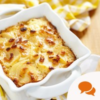 Here's the recipe for a lovely creamy, cheesy leek gratin that will warm the socks off you
