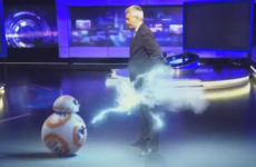 BB-8 droid attacks David McCullagh in Prime Time studio