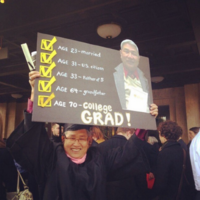 This man's inspiring graduation photo is going viral