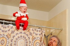 This dad turned his tiny son into the cutest little Elf on the Shelf
