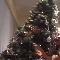 This Northern Irish girl just demonstrated why alcohol and Christmas trees don't mix