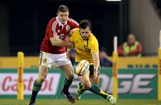 Matt Giteau defused an apparent spat between Brian O'Driscoll and a legendary Wallaby wing last night