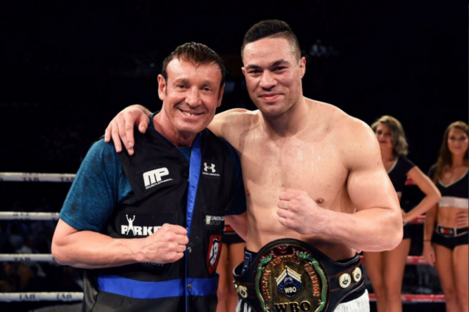 Joseph Parker with coach Kevin Barry