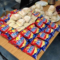 They're handing out blaas at Waterford airport to people coming home for Christmas