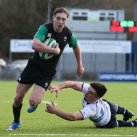 Six of the best: Terry Kennedy scored a hat-trick in each half of Ireland U20's rout today