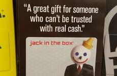 A fast food place was brutally honest with this year's Christmas gift card message