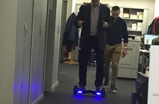 Pat Kenny riding a hoverboard is the meme Ireland needs right now