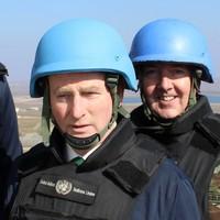 PICS: Enda dons a blue helmet, meets Irish troops and saves Christmas