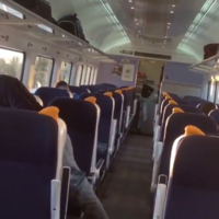 WATCH: Longford train tilts at odd-looking angle as it crawls through flood-hit Shannon area
