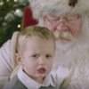 Just a bunch of kids, being terrified by Santa, in slow motion