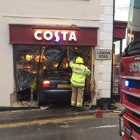 One dead and several injured as car crashes into Costa Coffee shop in Kent