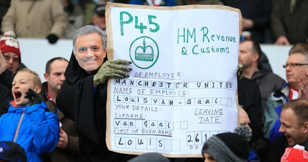 P45 for Van Gaal? Stoke have ruined the Man United manager's Christmas