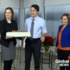 Canada's Prime Minister even makes cutting a birthday cake look slick