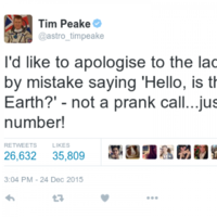 'Hello, is this planet Earth?': Astronaut apologises after calling wrong number from space