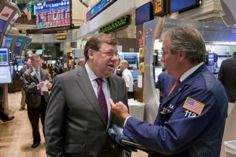 Cowen visiting the US stock exchange yesterday