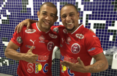 Jose Aldo comes out of hibernation to play in exhibition football match with Roberto Carlos