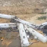 Freight train carrying sulphuric acid derails in Australia