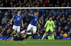 James McCarthy suffers setback as injury return lasts just 26 minutes