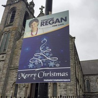 Fine Gael candidate defends putting up Christmas posters without permission