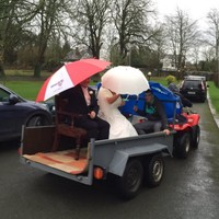 The floods in Tipp didn't stop these newlyweds making the reception