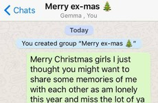 This lad added all his exes to a WhatsApp group to wish them Merry Christmas