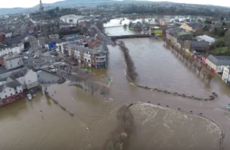 This unreal drone footage of Enniscorthy shows the extent of flooding