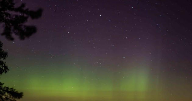 Pics: Ireland got a glimpse of the Northern Lights last night