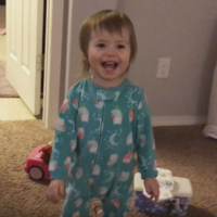 This little girl is far too impressed by her own farts