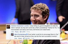 Mark Zuckerberg had an excellent response to a question about 'dating the nerd' in school