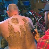 This man makes art out of his body hair