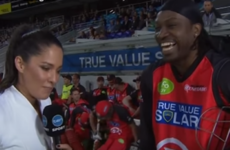 'Don't blush, baby' - West Indies cricketer slammed for chatting up interviewer live on air