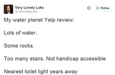 Luke Skywalker has been doing some very lonely Co Kerry reviews on Twitter