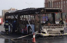 Man arrested after fire kills 17 people on bus in China