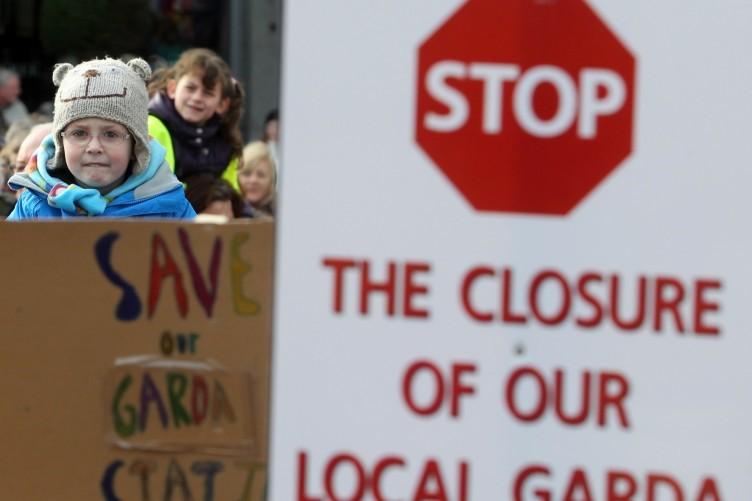 A protest at Stepaside Garda Station, Dublin in 2013.