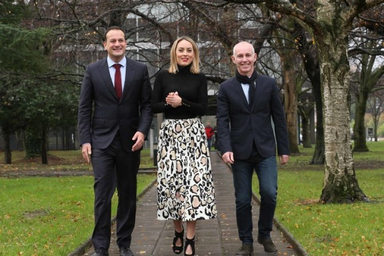 Minister for Health, Leo Varadkar, Operation Transformation's Kathryn Thomas and Ray D'Arcy launching the new series