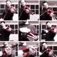 This Irish trad musician's cover of Thriller using just fiddles is so good