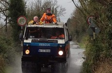 Watch: All-terrain articulated truck on tank tracks ploughs through Longford floods