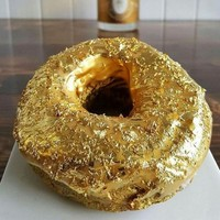 Feeling peckish? Feeling extravagant? Introducing the $100 gold-plated doughnut