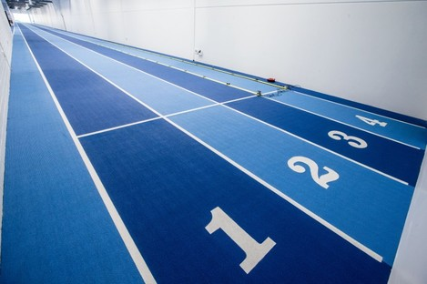 The high performance training centre includes a four-lane, 130-metre running track.