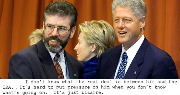 Bill Clinton had private concerns over Gerry Adams' IRA links