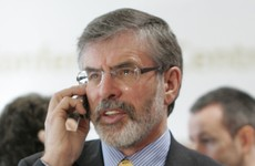 Gerry Adams thinks his phone is being tapped
