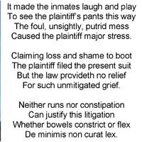 Judge throws out prisoner's $2 million toilet lawsuit - with a poem