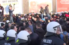 Tear gas and water cannon used to disperse far-right Pegida rally in Cologne