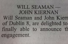 There is a lovely engagement notice in today's Irish Times