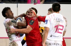 Stade Francais winger sent-off for attempted eye gouge on Munster's CJ Stander